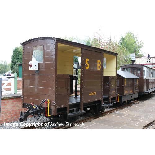 393-101 RNAD Open-End Brake Van in Statfold Barn Railway Brown Livery