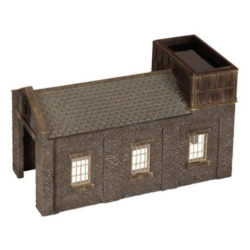 44-0002 Stone Engine Shed with Tank