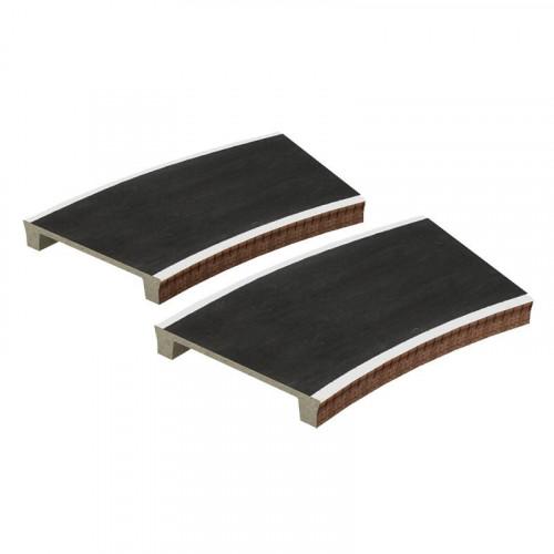 44-0007 Two Curved Platforms Radius 2