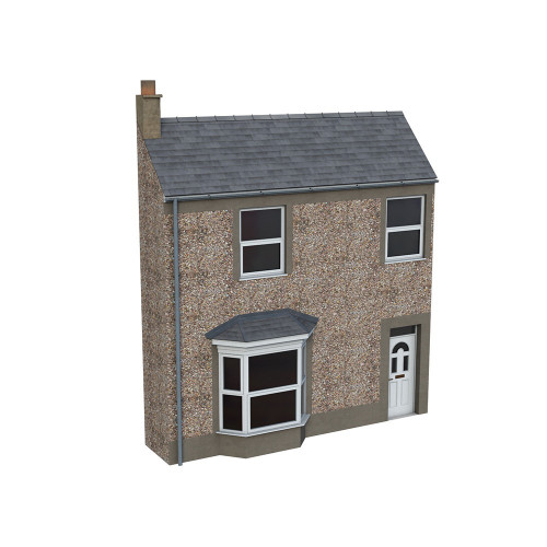 44-0203 Scenecraft Low Relief Pebble Dash Terrace House