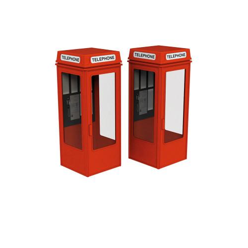 44-0503 Scenecraft K8 Telephone Boxes (x2)