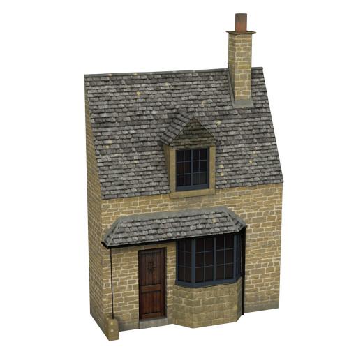44-295 Scenecraft Low Relief Honey Stone Cottage