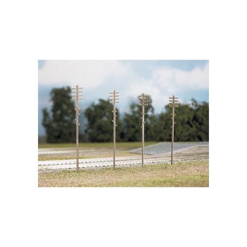 452 Ratio Kit Telegraph Poles (16 per pack) - 00 Gauge