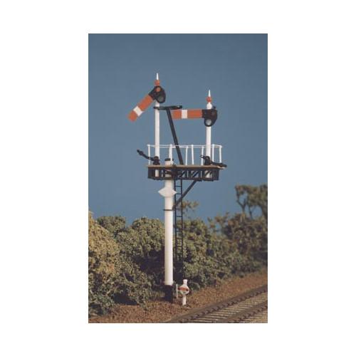 468 Ratio Kit GWR Round Post (1 set Brackets/Jcn.Signals) - 00 Gauge