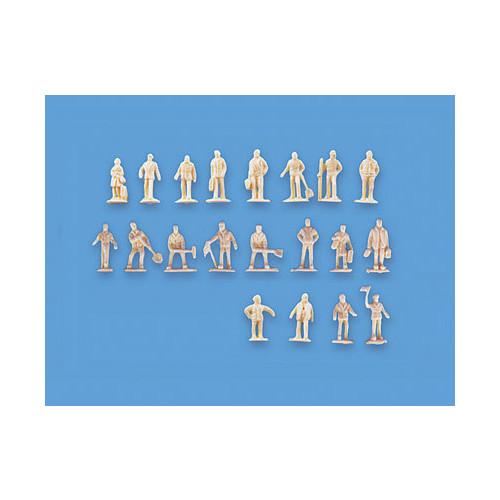 5156 Modelscene N Gauge Assorted Unpainted Figures Set A