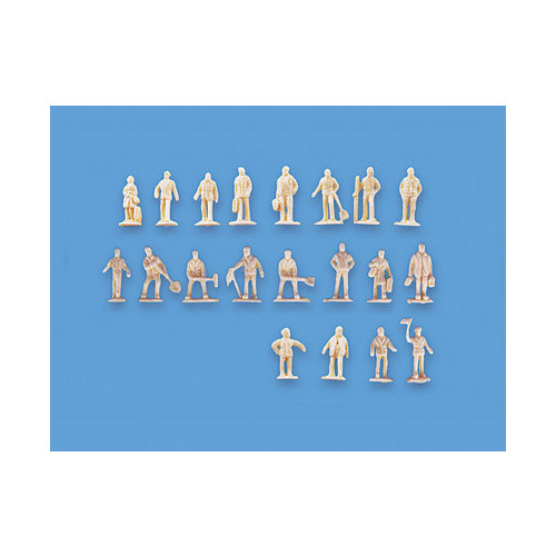 5156 Modelscene N Gauge Assorted Unpainted Figures Set A