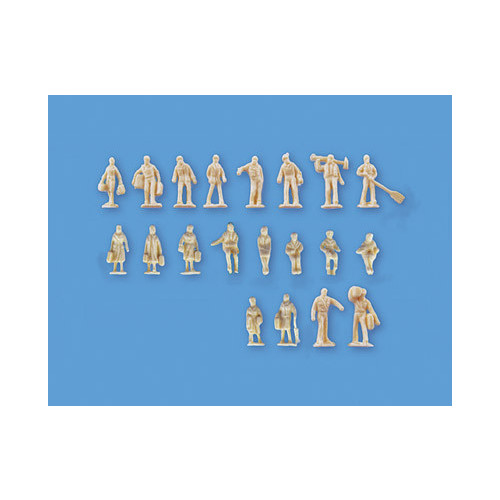 5157 Modelscene N Gauge Assorted Unpainted Figures Set B