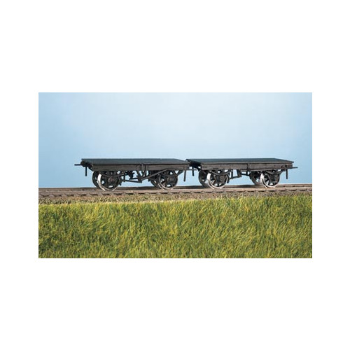 570 Ratio Kit 9' Wheelbase LNWR/LMS Wagon Underframes (2) - 00 Gauge