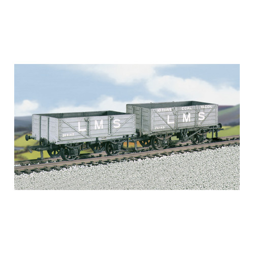576 Ratio Kit LMS Traffic Coal & 4-Plank Wagons (M/W, B/B) - 00 Gauge