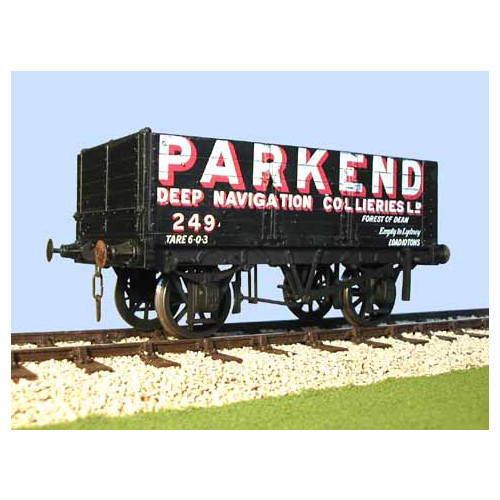 7036PE 6 Plank Wagon Parkend Colliery Forest of Dean with Fine Scale Wheels