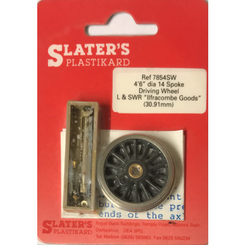 """7854SW 4'6"""" dia 14 Spoke Driving Wheel for L&SWR Ilfracombe Goods (30,91mm)"""
