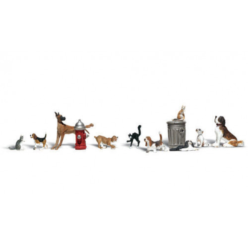 A2140 N Gauge Dogs & Cats