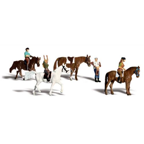 A2159 N Gauge Horseback Riders