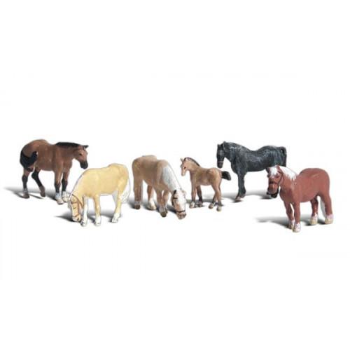 A2141 N Gauge Farm Horses
