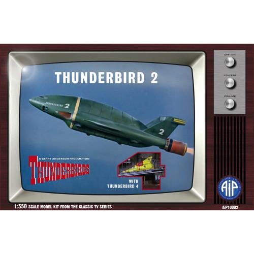 AIP10002 1:350 Scale Thunderbird 2 with Thunderbird 4 Plastic Construction Kit