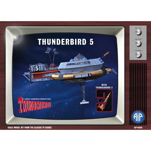 AIP10005 Thunderbird 5 with Thunderbird 3 Plastic Construction Kit