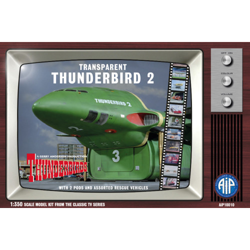 AIP10010 1:350 Scale Transparent Thunderbird 2 Plastic Construction Kit