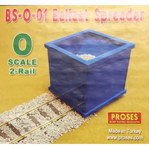 BS-O-02 O Gauge 3-Rail Ballast Spreader