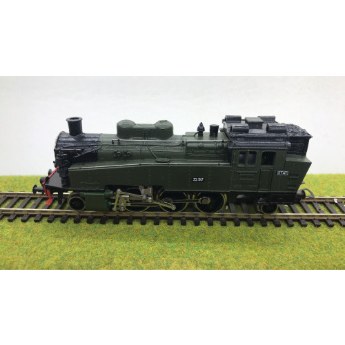 Piko HO Scale BR75 2-6-2 ETAT French Steam Locomotive No.32.917 in Dark Green Livery