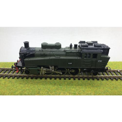 Piko HO Scale BR75 2-6-2 ETAT French Steam Locomotive No.32.917 in Dark Green Livery