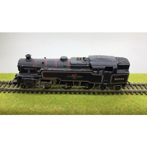Hornby Dublo 2-Rail BR Standard Class 4 2-6-4T Steam Locomotive No.80033 in BR Black Livery