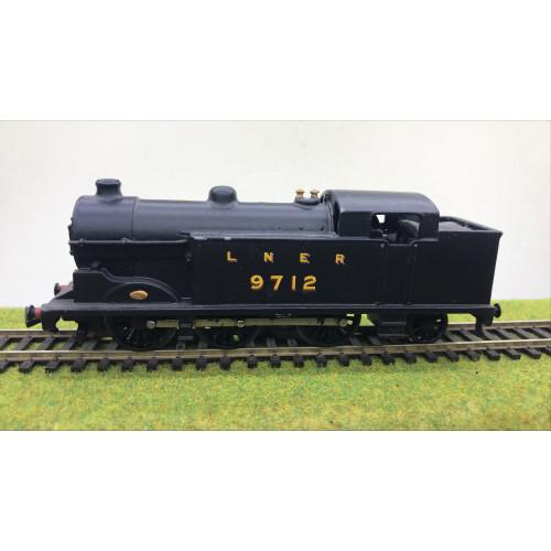 Hornby Dublo 2-Rail LNER 0-6-2 Class N7 Steam Locomotive No.9712 in Black