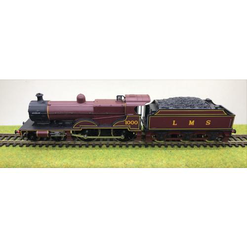 Hornby 4-4-0 Class 4P Compound Steam Locomotive No.1000 in LMS Crimson Lake