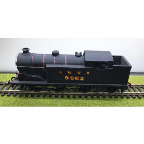 Kit Built Class N2 0-6-2T Steam Locomotive No.9563 in LNER Black