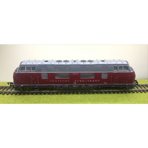 Fleischmann V200035 Deutsche Bundesbahn Diesel Locomotive in Burgundy/Grey Livery