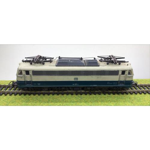 Roco DB 110 401-7 Electric Locomotive in Cream/Blue Livery
