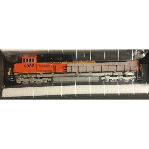 Athearn G68652 HO Scale Genesis BNSF Railway SD70ACe Diesel Locomotive No.9382 in Orange / Blank Livery - Code 9382 - DCC Sound