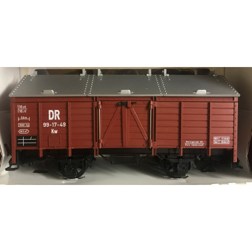 LGB 48110 O Gauge 2-Rail Southern Pacific Overnights Silver Box Car