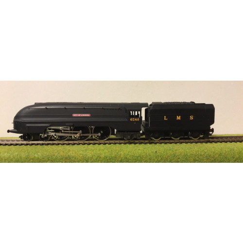 Hornby R2095 LMS Coronation Class 4-6-2 Steam Locomotive No.6245 City of London in Matt Black