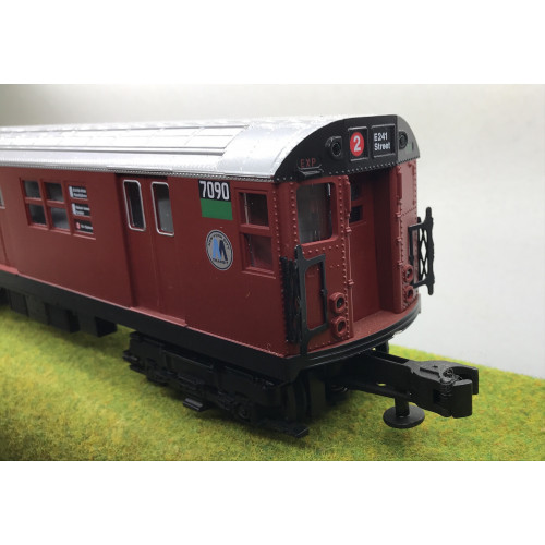Rail King 30-2198-0 4-Car Subway Set in Maroon Livery