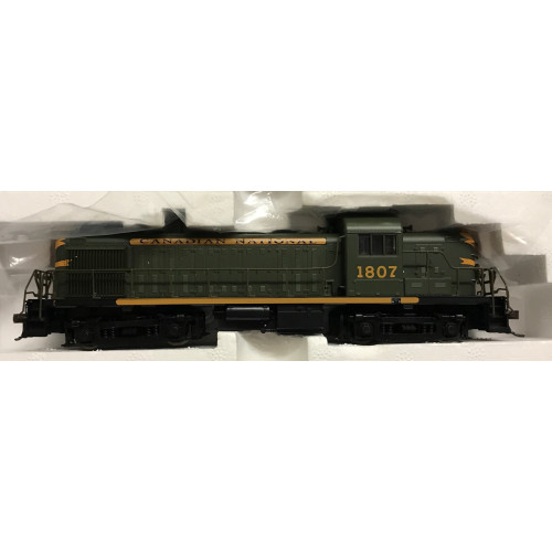 Atlas #8451 HO Scale Alco RS-3 Canadian National Diesel Locomotive No.1807 in Green / Gold