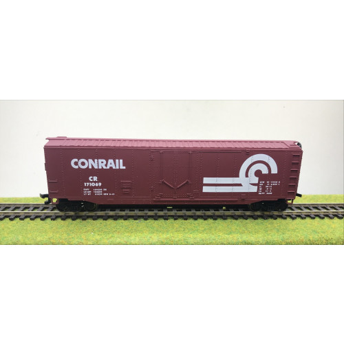 Set of 3 Bachmann HO Scale 18006 50' Plug-Door Box Cars in Conrail Livery