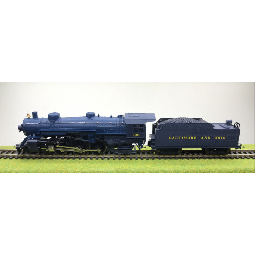 Mehano HO Scale T006/28918 4-6-2 Pacific Steam Locomotive No.106 in Baltimore & Ohio Royal Blue Livery