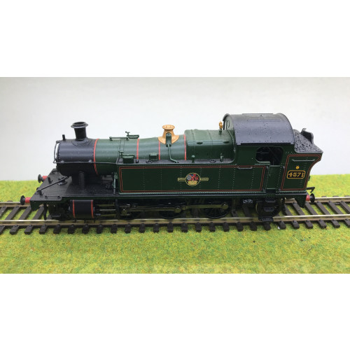 Bachmann 32-130 Class 45xx 2-6-2T Prairie Tank Locomotive No.4571 in BR Green with Late Crest - DCC Fitted