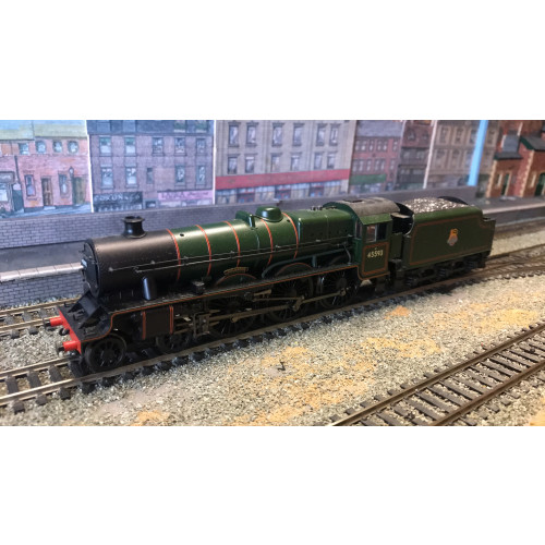 Bachmann 31-177DS Jubilee Class 4-6-0 Steam Locomotive No.45593 Kolhapur in BR Lined Green with Early Emblem - Sound Fitted