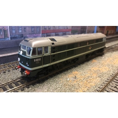 Hornby R2420 Class 31 BR A-1-A Diesel Electric Locomotive No.D5512 in BR Green - DCC Fitted