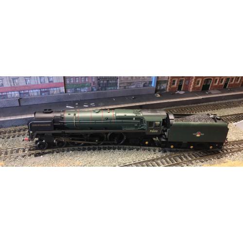 Hornby R3141 BR Standard Class 8P 4-6-2 Steam Locomotive No.71000 in BR Brunswick Green