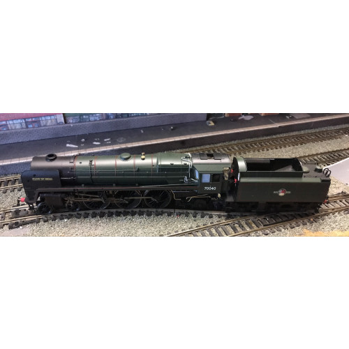 Hornby R2992XS BR Britannia Class 7MT 4-6-2  Steam Locomotive No.70040 Clive of India in BR Green - Sound Fitted