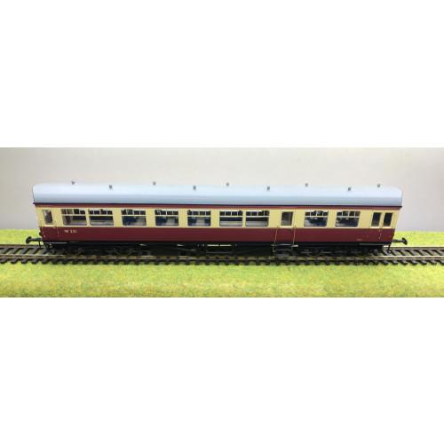 Bachmann 39-575 BR Auto Trailer Coach No.W321 in Crimson & Cream