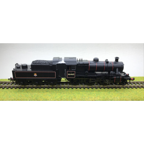 Bachmann 32-826A Ivatt Class 2MT 2-6-0 Steam Locomotive No.46460 in BR Black with Early Emblem