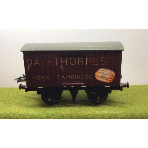 Hornby Tinplate Palethorpes Box Van