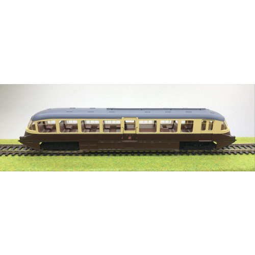 Dapol 4D-011-004 Streamlined Railcar No.8 in Lined Chocolate & Cream GWR Twin Cities