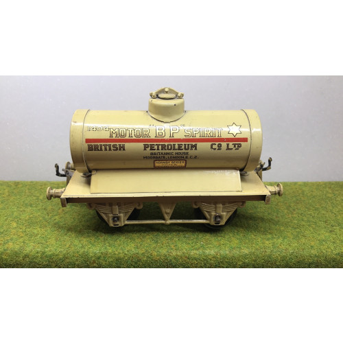Hornby B.P. Motor Spirit British Petroleum Co. Ltd. Tanker Wagon in Cream Livery