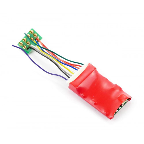 DCC90 Ruby Series 2 Function Standard DCC Decoder 8-Pin
