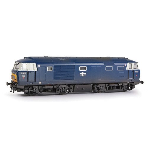 E84004 Class 35 Hymek Diesel Locomotive No.D7056 in BR Blue with Yellow Panels & White Cab Windows - Weathered