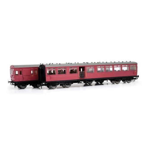 E86001 LSWR Gate Stock 2-Coach Set in BR Crimson